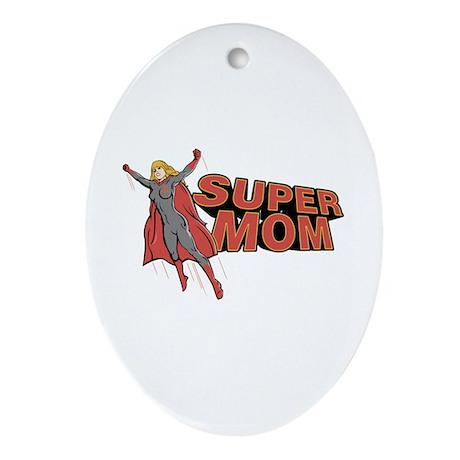 Super Mom Oval Ornament