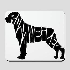 Rottweiler lovers Mousepad