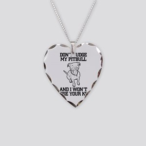 Pitbull Necklace Heart Charm