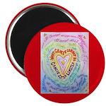 Rainbow Heart Cancer Magnet