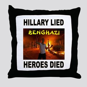 HILLARY LIED Throw Pillow