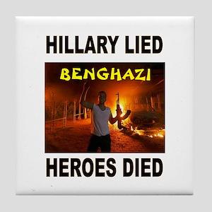 Hillary Lied Tile Coaster