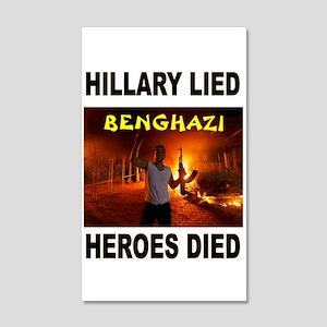 Hillary Lied 35x21 Wall Decal