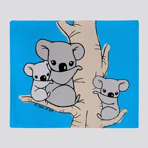 Koala Bears Throw Blanket