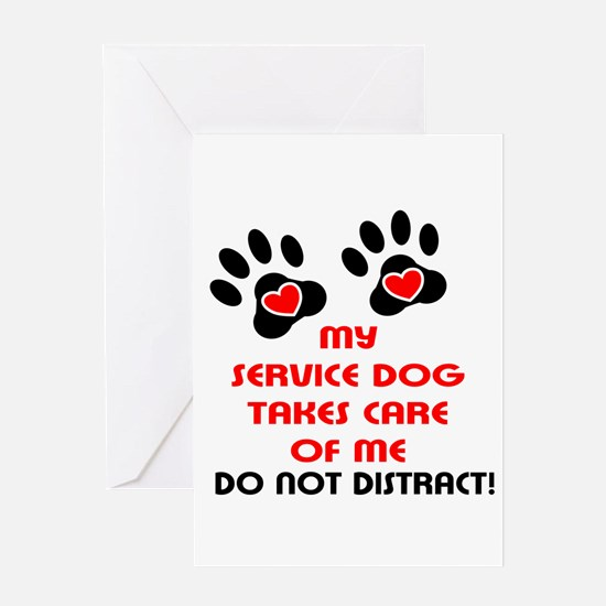 Cute Service dog Greeting Card