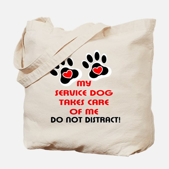 Funny Service dog Tote Bag