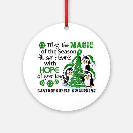 Gastroparesis Christmas Penguins Ornament (Round)