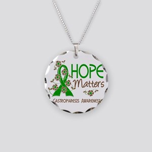 Gastroparesis Hope Matters 3 Necklace Circle Charm