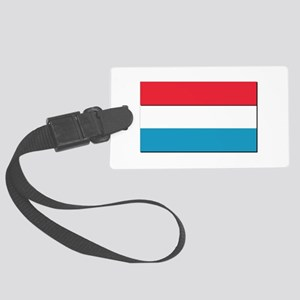 Flag of Luxembourg - NO Text Large Luggage Tag