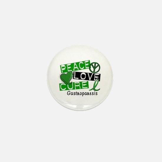 Gastroparesis Peace Love Cure 1 Mini Button