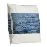 In the same boat Burlap Throw Pillow