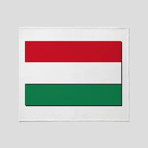 Hungary Flag Throw Blanket
