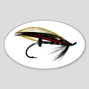 """Fly 1"" Oval Sticker"