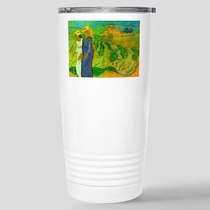 Van Gogh Women Crossing Fields Travel Mug