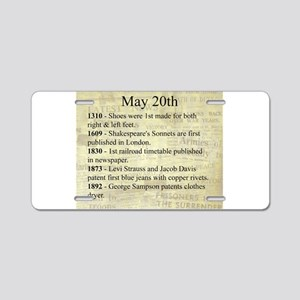 May 20th Aluminum License Plate