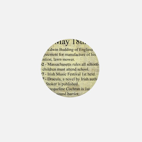 May 18th Mini Button