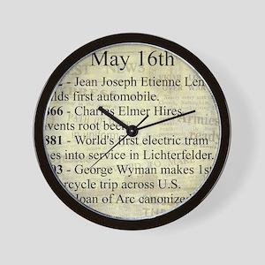 May 16th Wall Clock