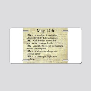 May 14th Aluminum License Plate