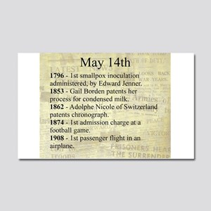 May 14th Car Magnet 20 x 12