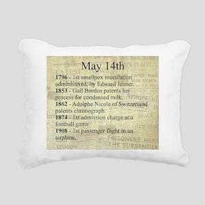 May 14th Rectangular Canvas Pillow