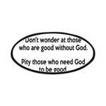 Good Without God Atheism Patches