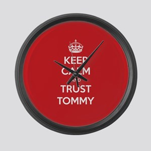 Trust Tommy Large Wall Clock