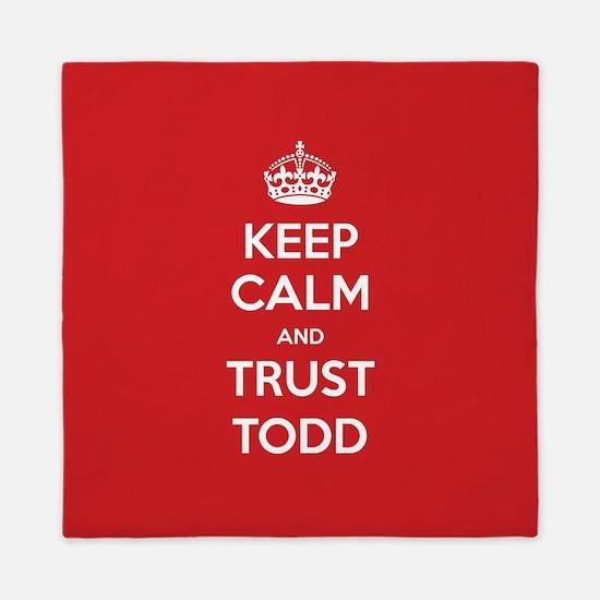 Trust Todd Queen Duvet