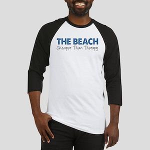 Beach Cheaper Than Therapy Baseball Jersey