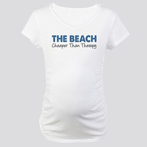 Beach Cheaper Than Therapy Maternity T-Shirt