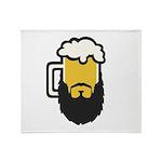 Beer Beard Throw Blanket