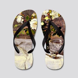 Roses in a Glass Flip Flops