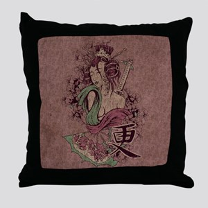 Modern Geisha Throw Pillow