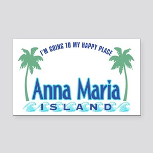 Anna Maria Happy Place Rectangle Car Magnet