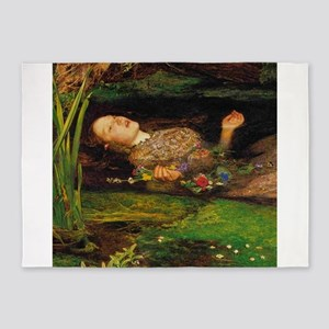 Ophelia by Millais 5'x7'Area Rug