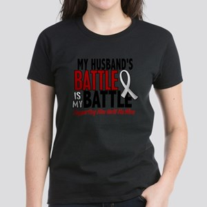 My Battle Too 1 PEARL WHITE (Husband) T-Shirt