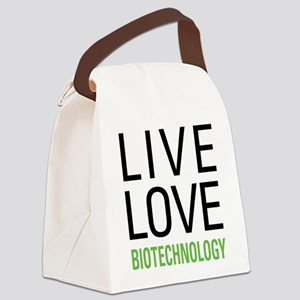 Live Love Biotechnology Canvas Lunch Bag