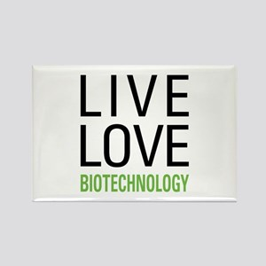 Live Love Biotechnology Rectangle Magnet