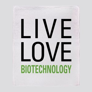 Live Love Biotechnology Throw Blanket