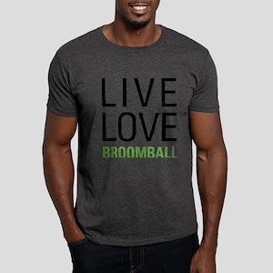 Live Love Broomball Dark T-Shirt