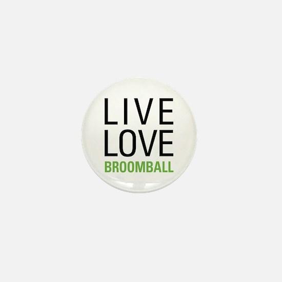 Live Love Broomball Mini Button