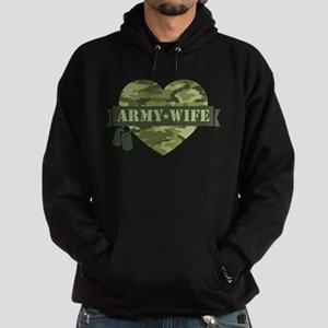 Camo Heart Army Wife Hoodie (dark)