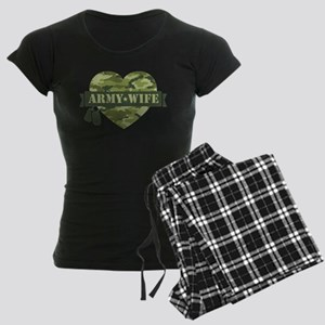 Camo Heart Army Wife Women's Dark Pajamas