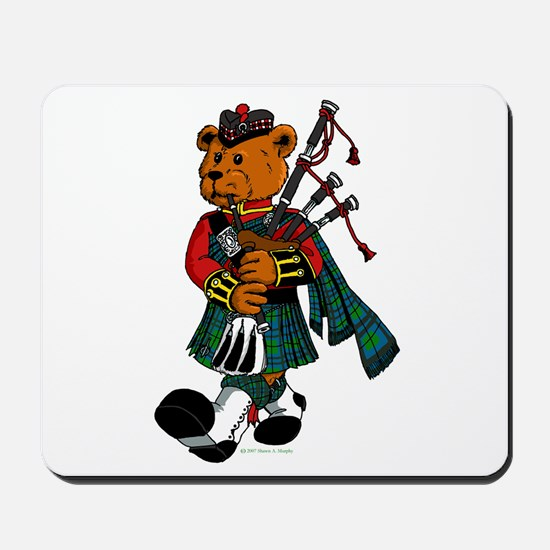 Jimmie the Scottish Piper Bear Mousepad
