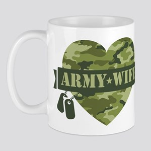 Camo Heart Army Wife Mug