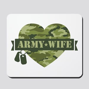 Camo Heart Army Wife Mousepad