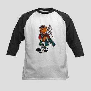 Jimmie the Scottish Piper Bear Kid Baseball Jersey