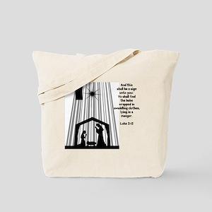 Luke 2:12 Tote Bag