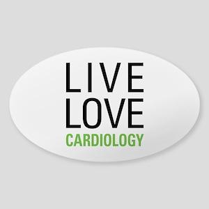 Live Love Cardiology Sticker (Oval)