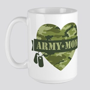 Camo Heart Army Mom Large Mug