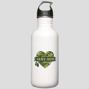 Camo Heart Army Mom Stainless Water Bottle 1.0L
